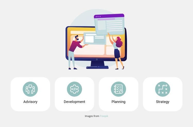 Illustrations and benefits WordPress Theme