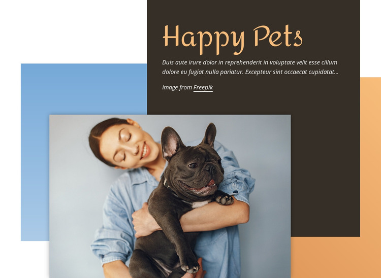 Training for small dogs HTML Template