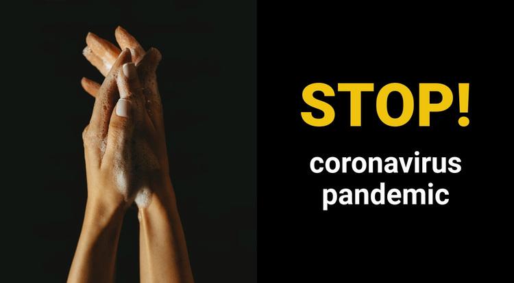 Coronavirus Pandemic Website Design