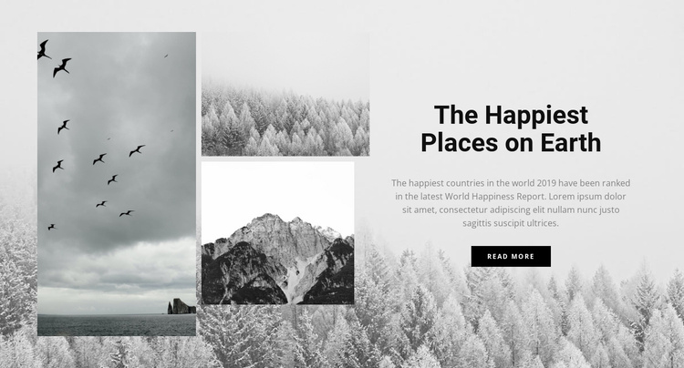 The happiest places Website Template