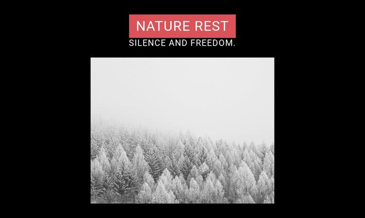Nature rest WordPress Website Builder