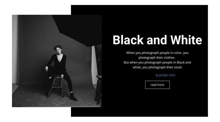 Black and white studio Joomla Page Builder