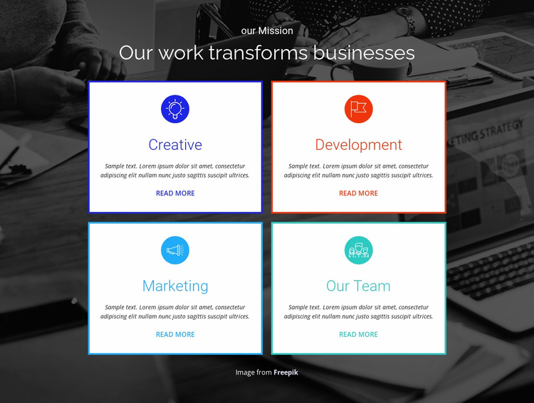 Our Work Transforms your Business Website Template