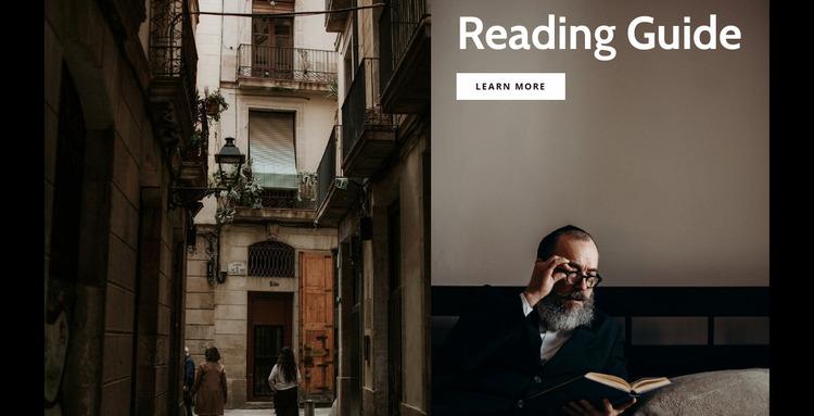 Reading guide Website Mockup