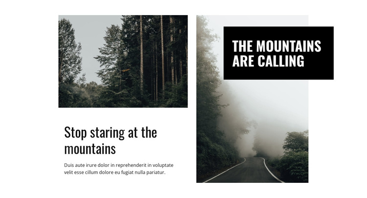 Mountain and nature Web Design