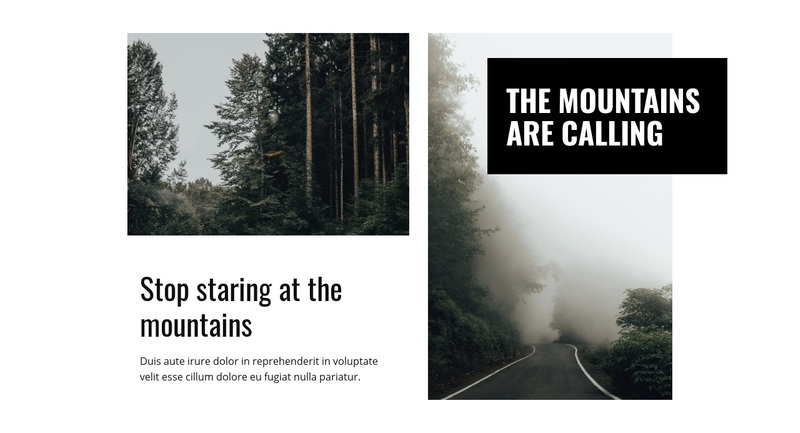 Mountain and nature Web Page Design