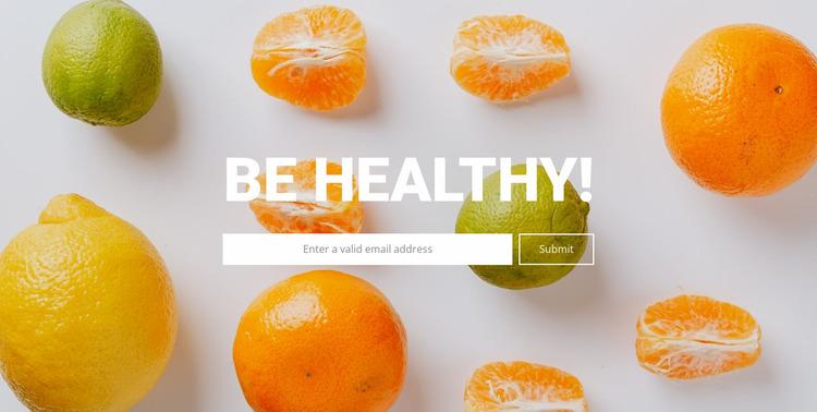 Be healthy Website Mockup
