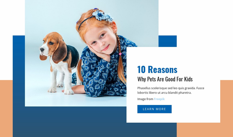 Pets and Kids Website Template