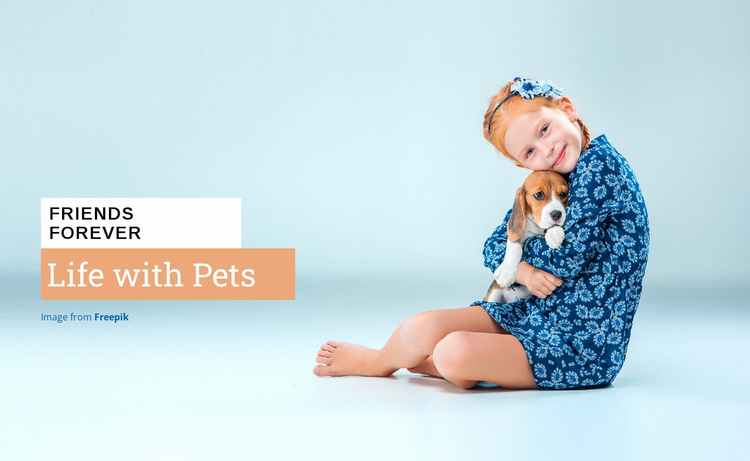 Life with Pets Website Template