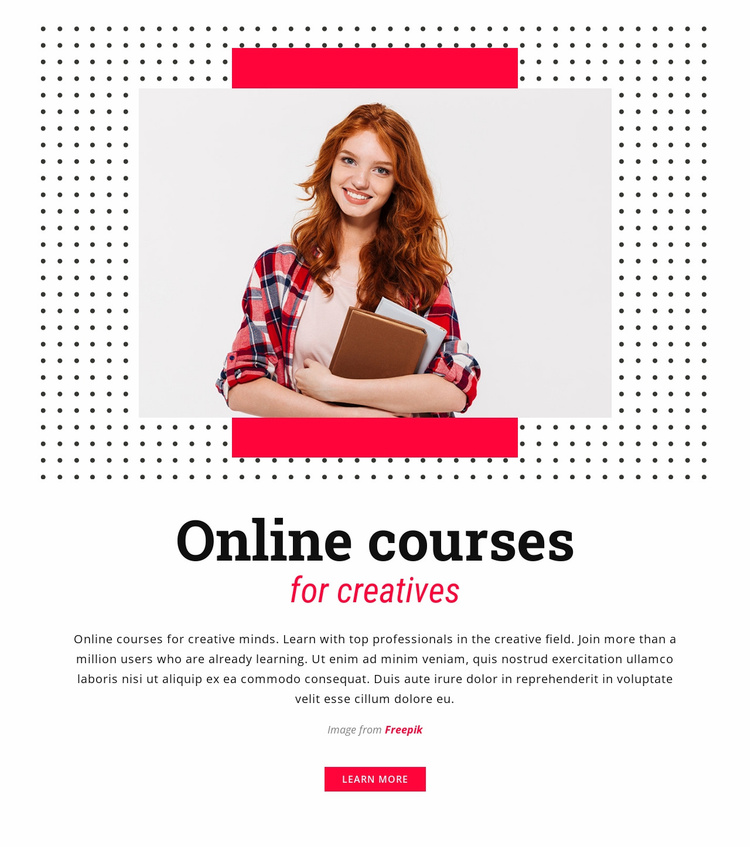 Online Courses for Creatives Website Template