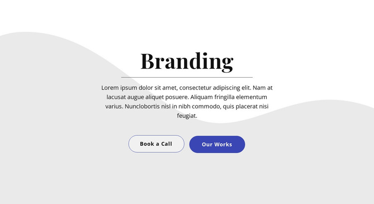Text with two buttons HTML Template