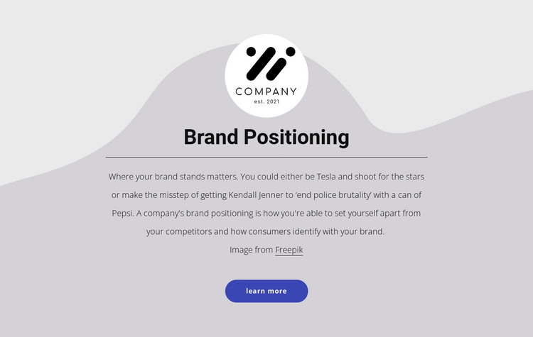Brand positioning HTML Template