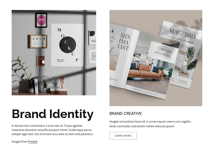 Creative direction HTML Template
