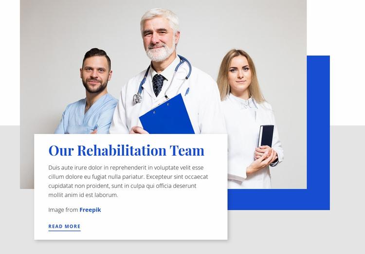 Our Rehabilitation Team Website Template