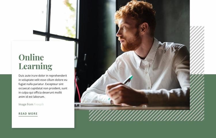 Online Learning Website Mockup