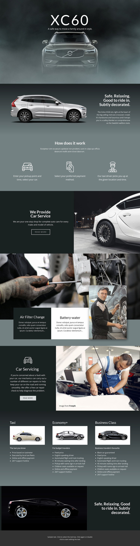 Volvo XC60 off-road car Website Mockup