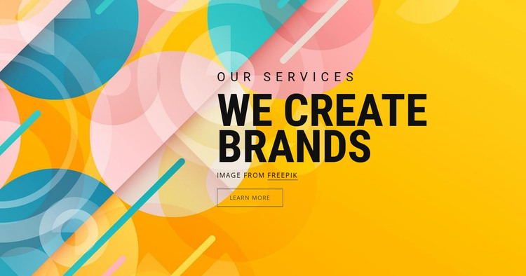 Brand asset creation HTML Template