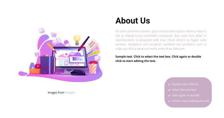 We create illustrations HTML Template