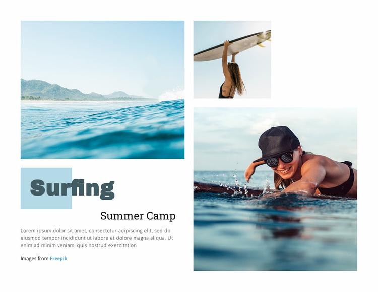 Surfing Summer Camp Website Design