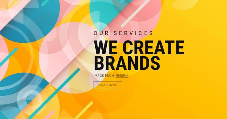 Brand asset creation Website Template