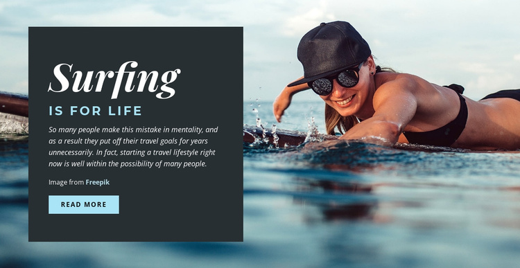 Surfing is for Life Joomla Template