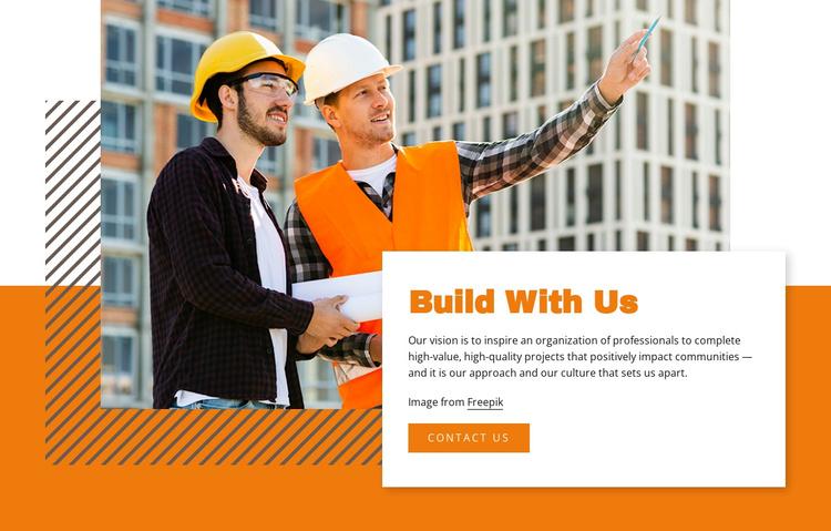 Build With Us Joomla Template