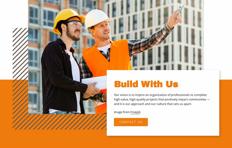 Build With Us Website Template