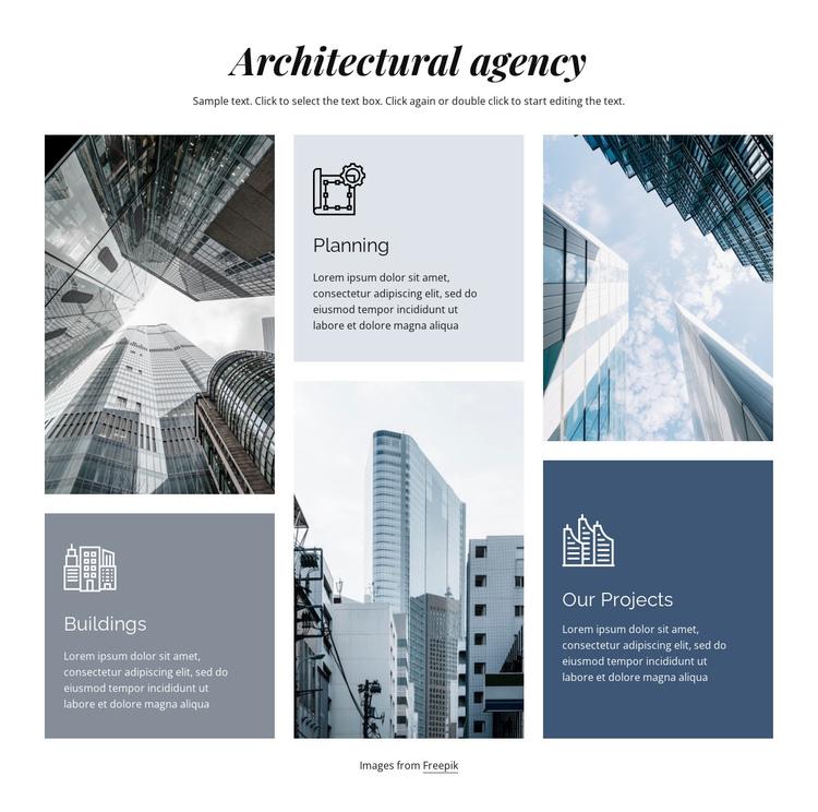Architectural agency Website Builder Software