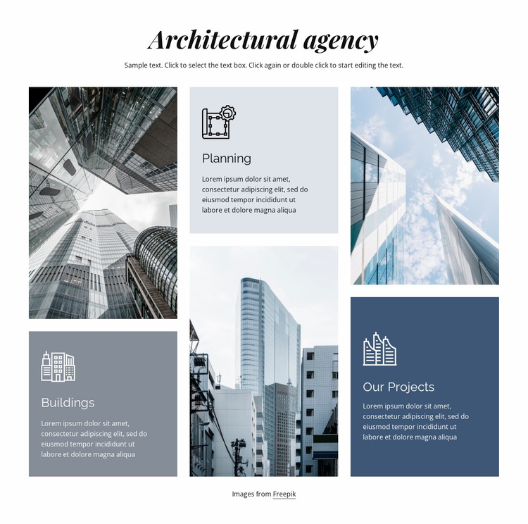 Architectural agency Landing Page