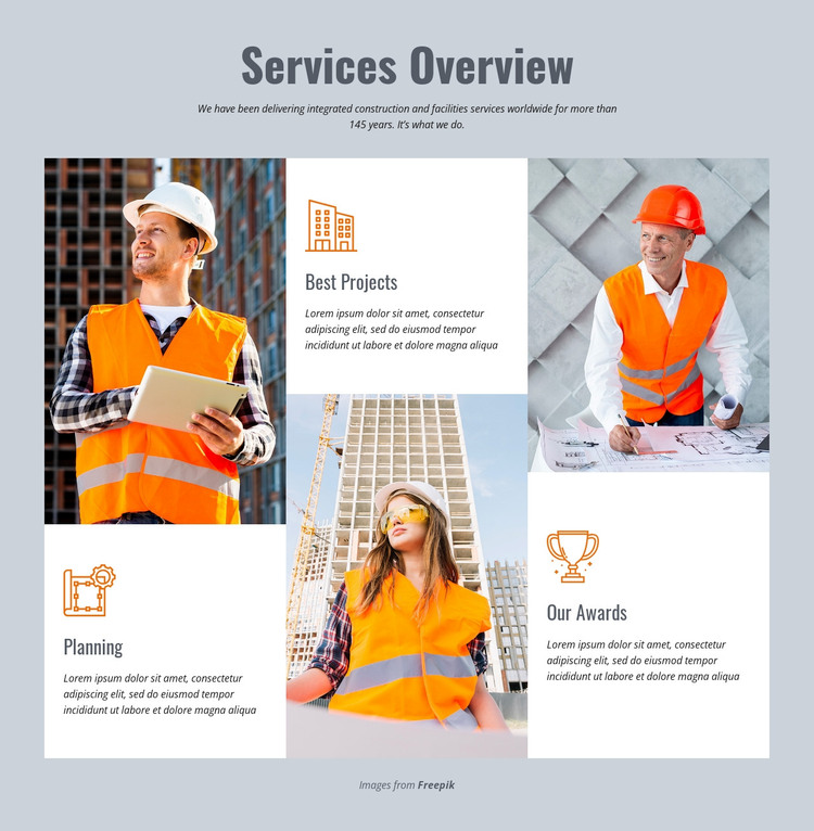 Services Overview WordPress Theme
