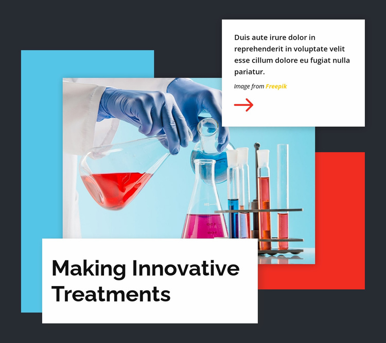 Making Innovative Treatments Landing Page