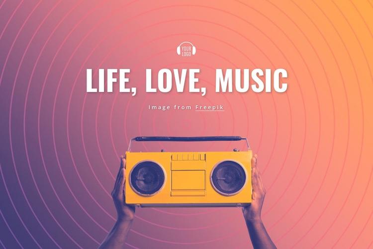Life, love, music Html Code Example