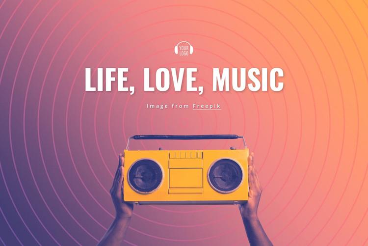 Life, love, music HTML Template
