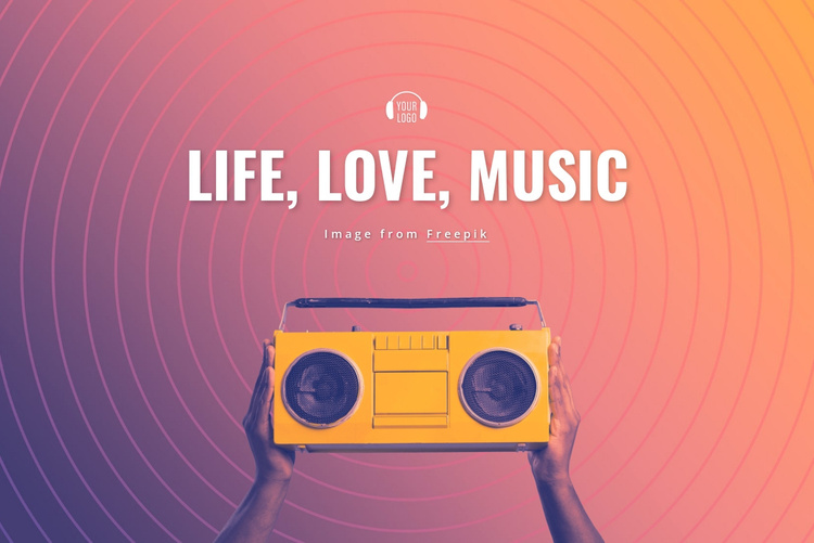 Life, love, music Joomla Template