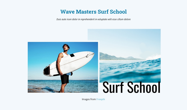 Surf School Joomla Template