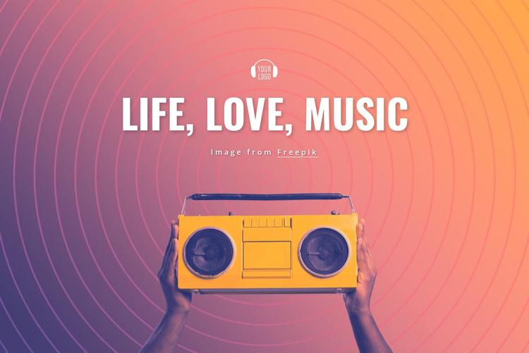 Life, love, music Website Builder Software