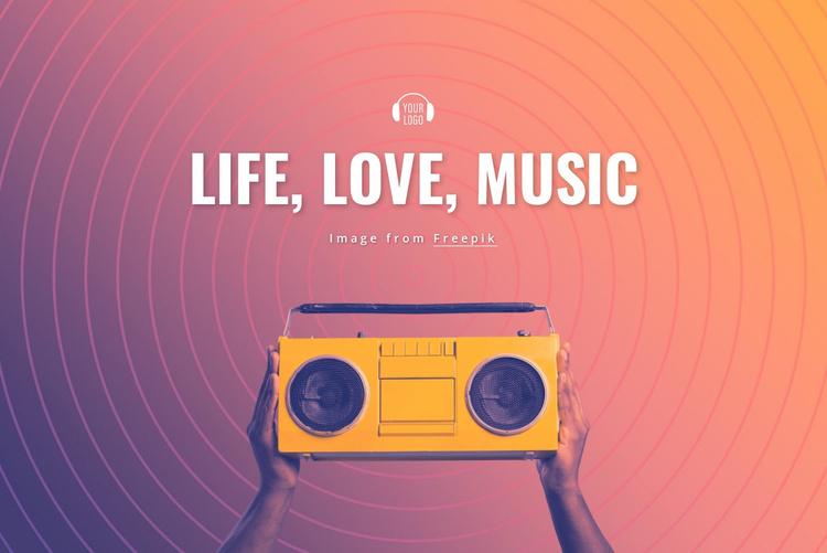Life, love, music Website Template