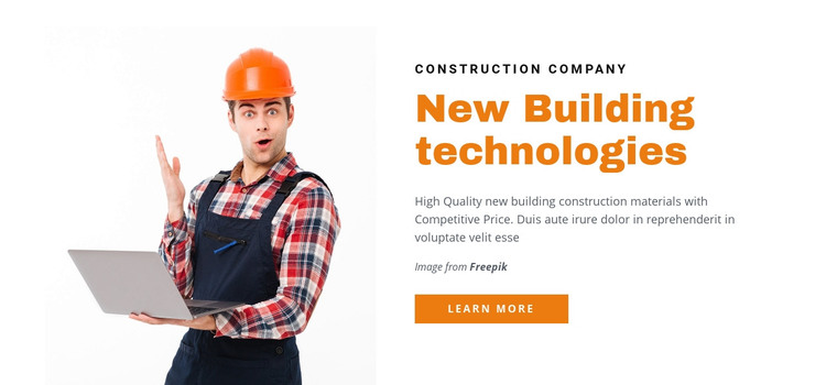 New Building Technologies Homepage Design