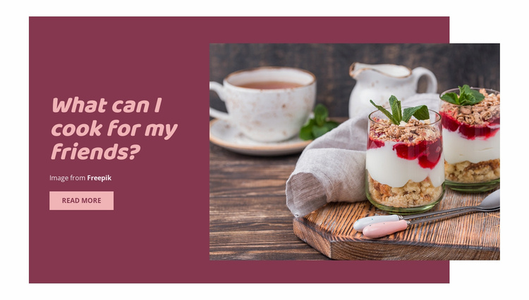 Tips for Making Meals for Friends Website Template
