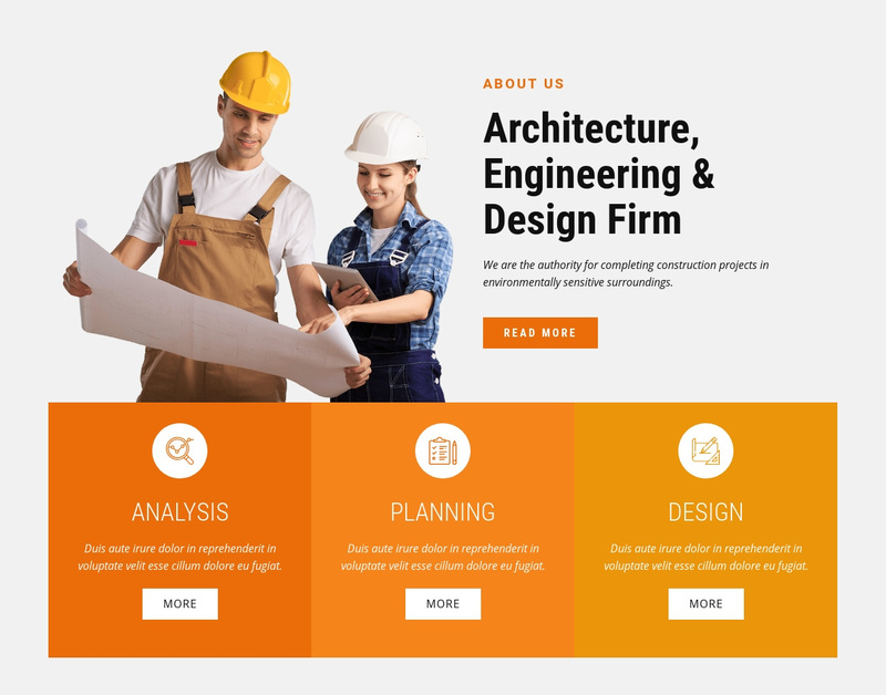 Architecture, Engineering & Design Firm Web Page Design