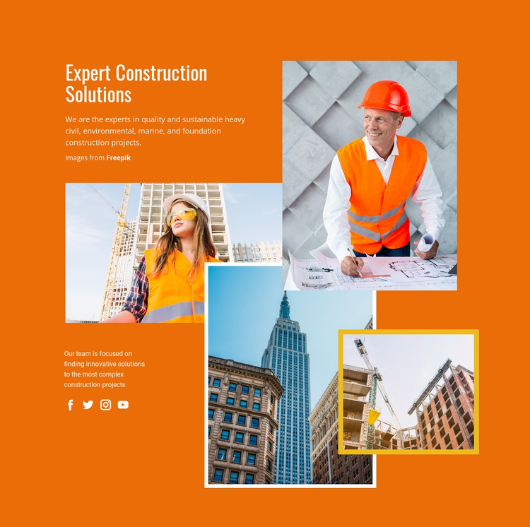 Expert Construction Solutions Landing Page