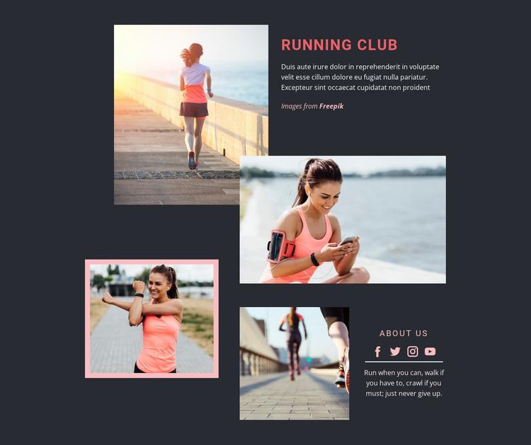 Running Club WordPress Website Builder