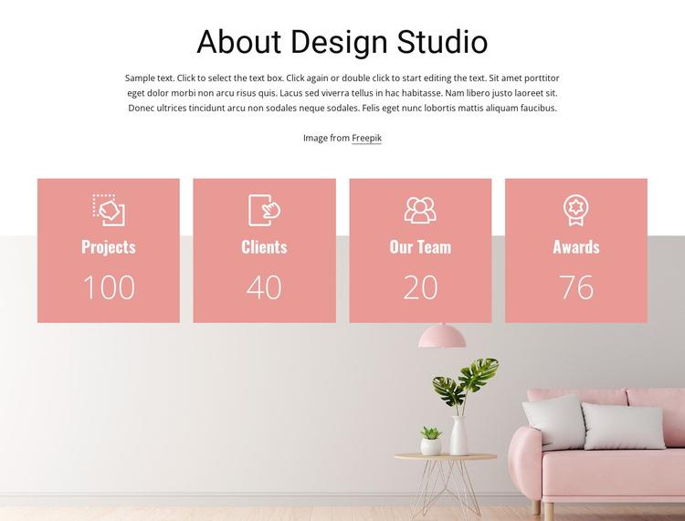 Interior design counters Website Builder Software