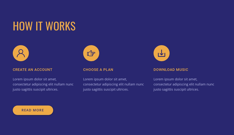 How our service works Website Template