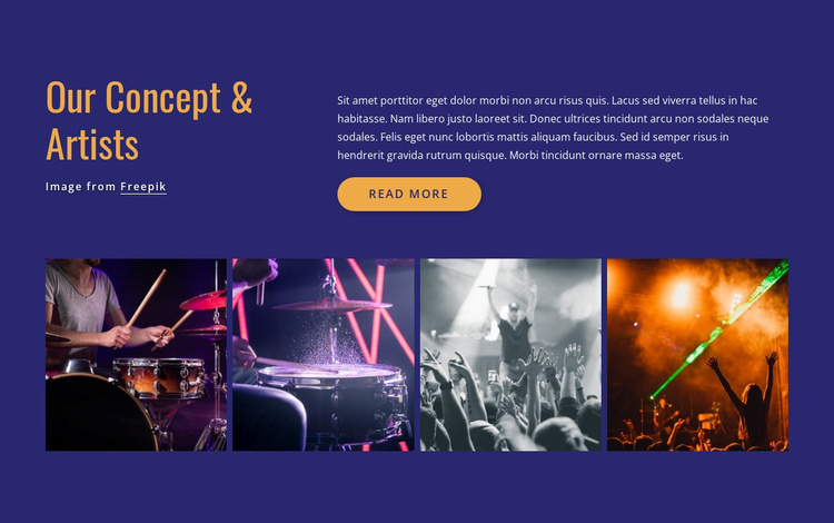Our concerts and artists Website Template
