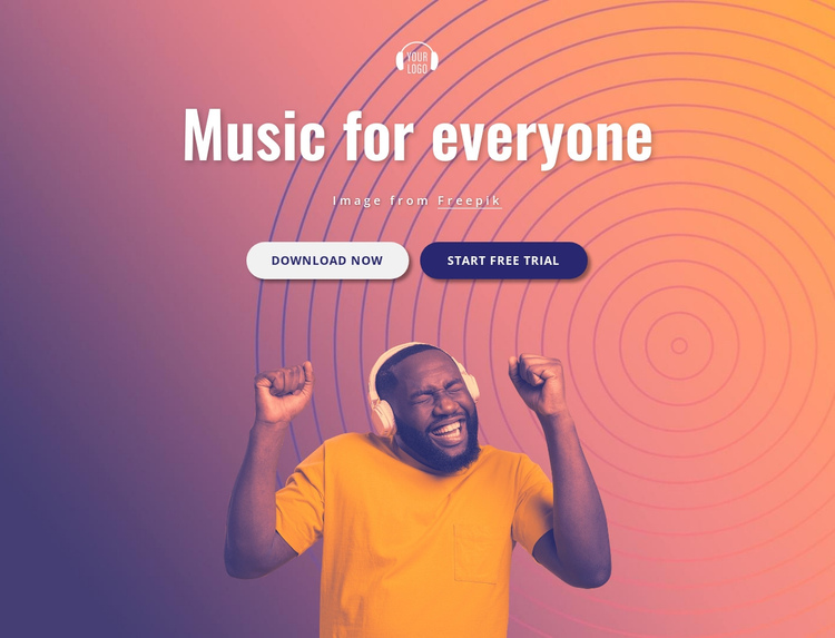 Music for you Website Builder Software
