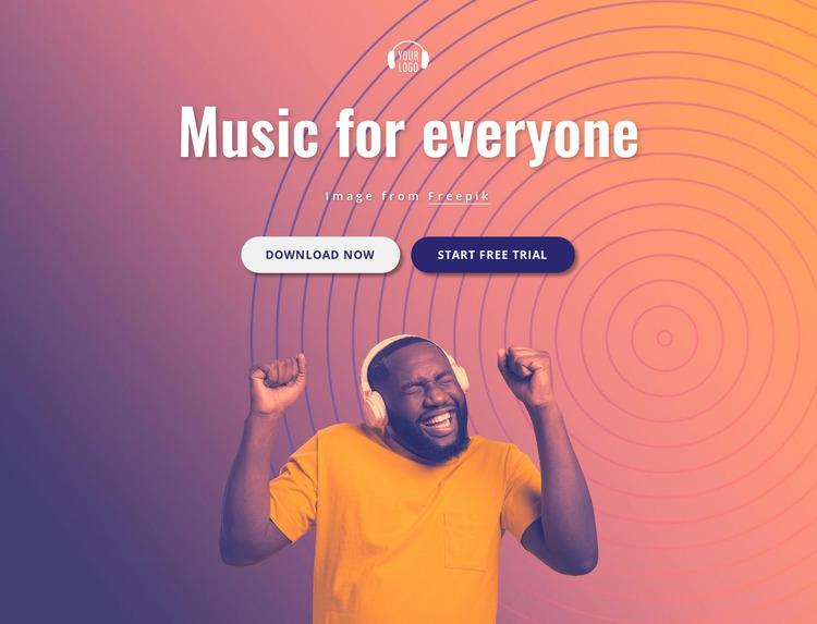 Music for you Website Mockup