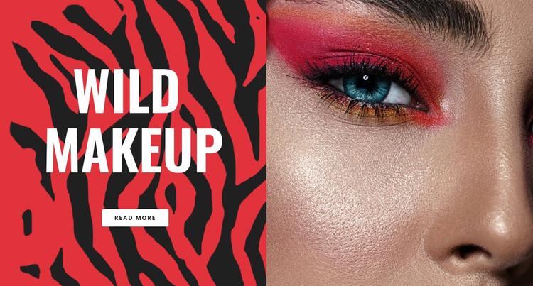 Wild Makeup Website Design