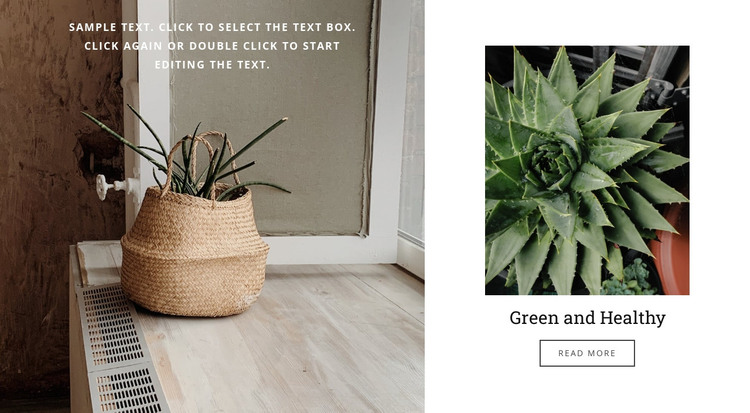 Green and healthy HTML Template