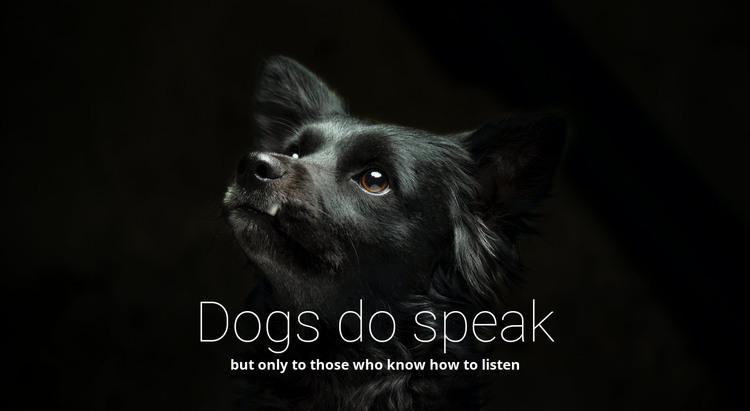 Dogs do speak HTML Template